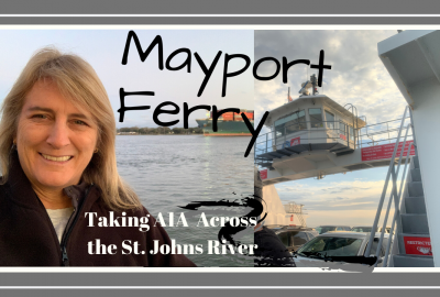 Mayport Ferry, TAKING THE MAYPORT FERRY ACROSS THE ST. JOHNS RIVER AT A1A // Deep Water Happy