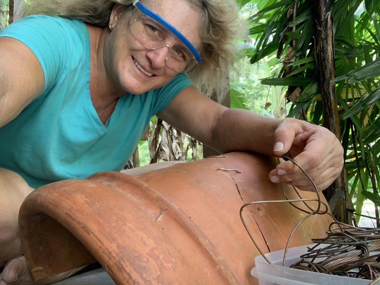 repairing terra cotta pot, How To Repair Your Expensive Terra Cotta Pots // Reduce, Reuse, Recycle