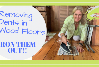 wood floor dents, HOW TO REMOVE DENTS FROM YOUR WOOD FLOOR WITH AN IRON // Deep Water Happy