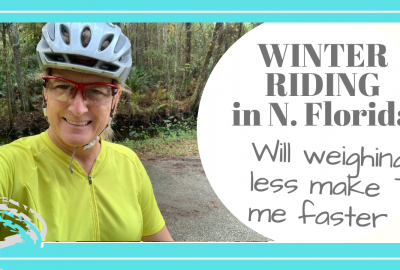 winter cycling, WINTER RIDING IN NE FLORIDA // WEIGHING LESS, GOING FASTER WITH LESS EFFORT // Deep Water Happy