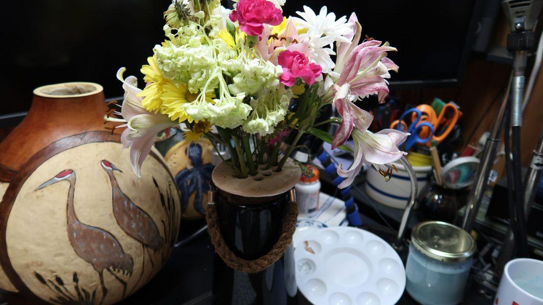flower frog disk, Flower Arranging Device You Never Knew You Needed // A Ceramic Flower Frog Disk