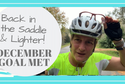 cycling break, BACK IN THE SADDLE AND LIGHTER! // DECEMBER GOAL MET // Deep Water Happy