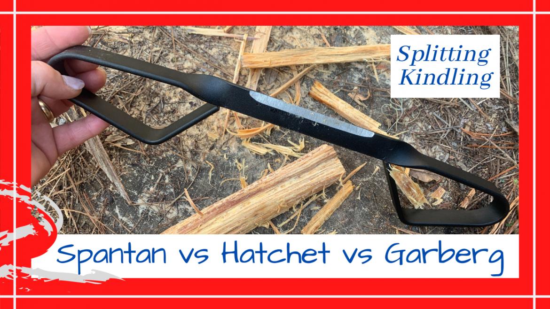 Splitting Heart Pine Kindling, SPANTAN VS HATCHET VS GARBERG KNIFE FOR SPLITTING HEART PINE KINDLING // Deep Water Happy